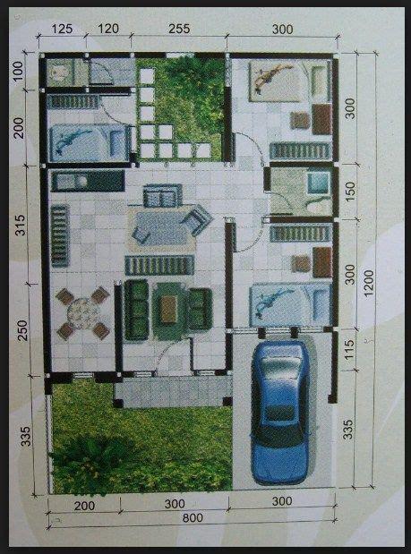 denah rumah minimalis  lantai ukuran  konsep rumah