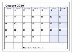 Calendario octubre 2019 57LD Michel Zbinden es