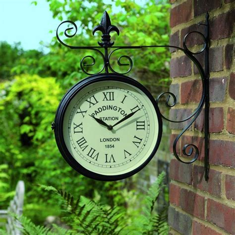 outdoor garden clock paddington buy garden clocks at best prices day delivery
