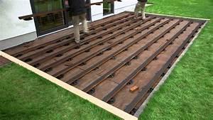 Konny prasentiert spax terrasse mit unsichtbarer for Bankirai terrasse bauen