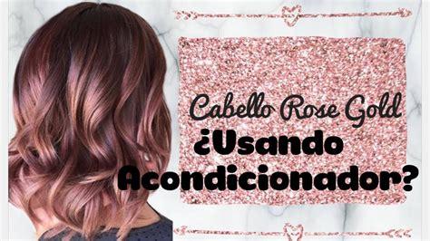 Cabello Rose Gold En Casa