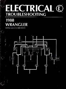 1987 1988 Jeep Wrangler Yj Electrical Service Manual Diagrams Schematics Wiring