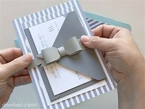 how to tie a bow on an invitation card howstoco With wedding invitation ribbon tying