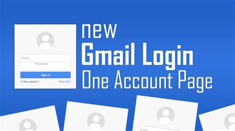 New Gmail One Account Login Page