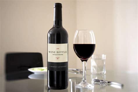 red wine bottle scene mockup medialoot