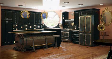 cottage   pond steampunk kitchens