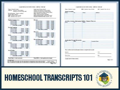 homeschool high school transcript template homeschool transcripts 101 letshomeschoolhighschool