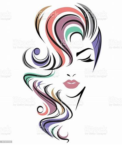 Hair Vector Face Background Clipart Abstract Illustration