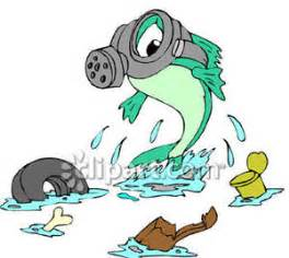Fish, Wearing a Gas Mask, In a Polluted Lake - Royalty ...
