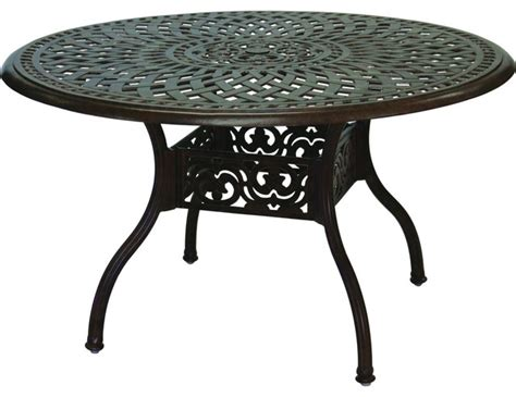 darlee series 60 48 inch cast aluminum patio dining table