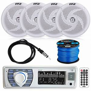 Bluetooth Marine Stereo W  Pyle Speaker System  Ekmr2