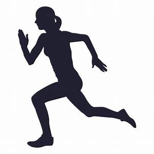 Athlete girl silhouette - Transparent PNG & SVG vector