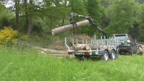 rückewagen mit kran pkw forstanh 228 nger mit 4 m kran feige forsttechnik nr