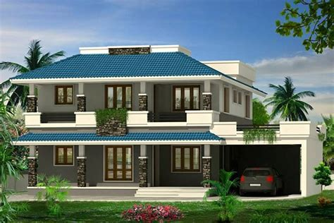 super double floor kerala house design  sq ft