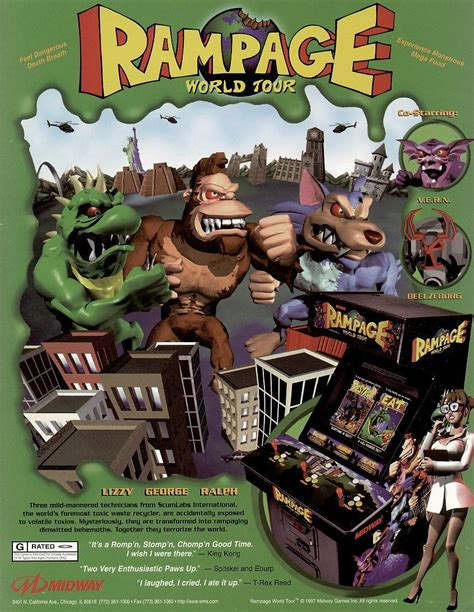 Rampage World Tour Arcade Games Color Games Midway Games