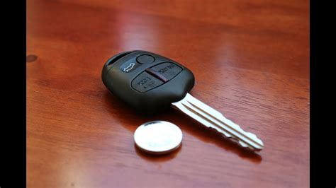 Mitsubishi Remote Key Battery Replacement Youtube