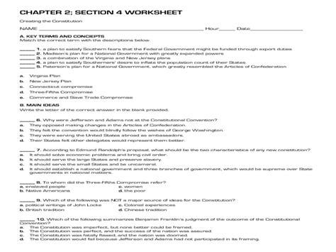 Printables The Constitution Worksheet Lemonlilyfestival Worksheets Printables
