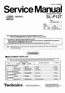 Technics Sl-p150 Service Manual