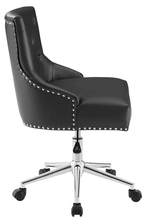 Modway Button Tufted Swivel Office Chair in Black