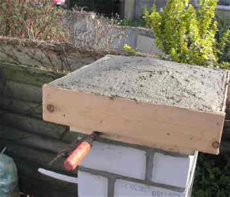 Zementmörtel Als Fundament by Pfosten Mauern