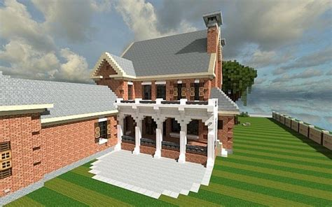plantation home country  brick minecraft house ideas