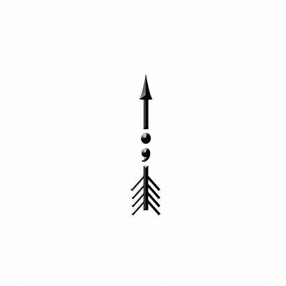 Semicolon Arrow Transparent Owen Bill Tote Bleed