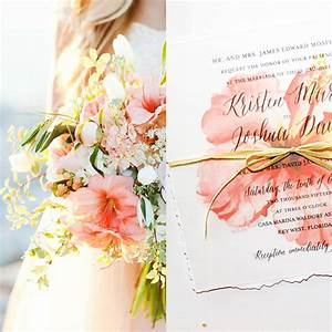 Tropical Coral Peach Wedding Inspiration Super Unique