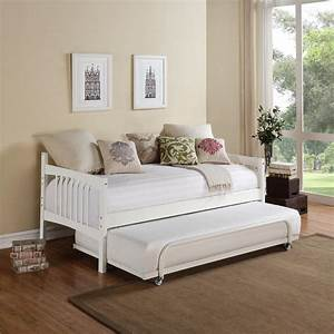 dorel living kayden white twin daybed fa6394w the home depot With sofa bed for 2 adults