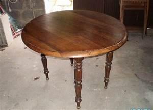 Table En Bois Massif Ancienne : table ronde ancienne offres f vrier clasf ~ Teatrodelosmanantiales.com Idées de Décoration