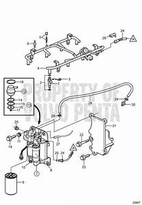 Volvo Penta Exploded View    Schematic Fuel System 8 1gi