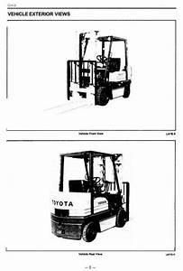 Toyota Lpg Forklift Truck  5fgc18  5fgc20  5fgc23  5fgc25
