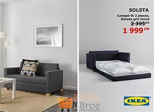 Canapés Ikea Soldes : promo ikea maroc canap lit solsta 1999dhs les soldes et promotions du maroc ~ Teatrodelosmanantiales.com Idées de Décoration
