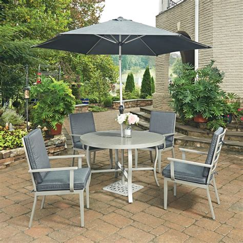 home styles south beach grey 7 piece round extruded