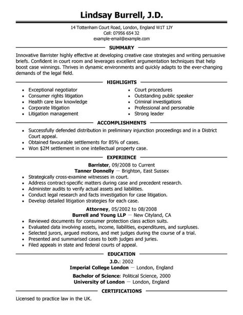attorney resumes resume template ideas