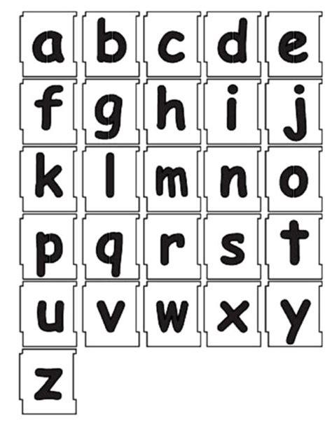 50mm Alphabet Letters Lowercase Stencil Set 'a' To 'z' Comic Sans Lower Case Ebay