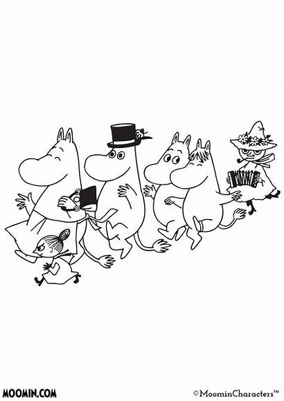 Moomin Coloring Pages Cartoon Tove Jansson Tattoo