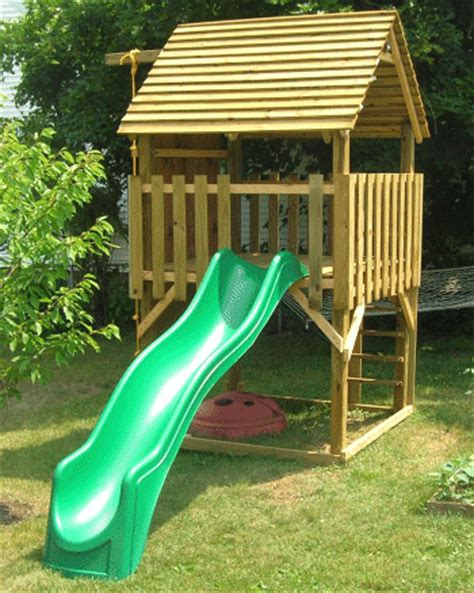 kids climber play house  woodworking project plans