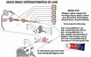 Saeco Magic Comfort Plus La Pavoni Espresso Machines And Parts