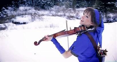 Lindsey Stirling Animated Playing Violin Violins Dancing