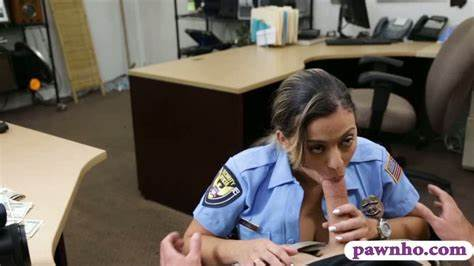 Latina Police Officer Fucked By Pawn Dude For Some Money