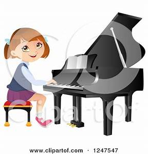 Child Playing Piano Clipart (45+)