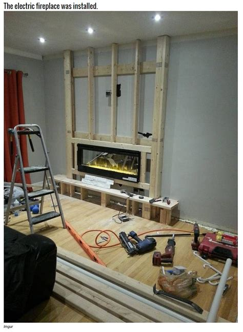 turn tv into fireplace turning a boring wall into a fireplace craft furniture