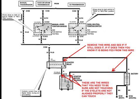 ford  starter solenoid wiring diagram wiring diagram