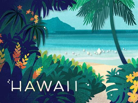 hawaii  chelsea wirtz  dribbble