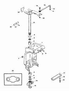 Force 120 Hp  1998  Swivel Bracket  U0026 Steering Arm Parts