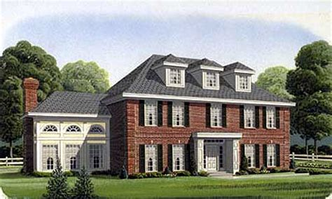 classic colonial home plan gt architectural