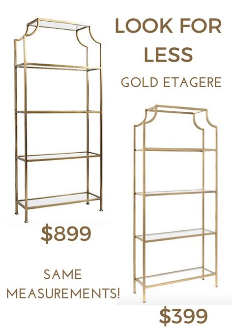 Gold Etagere by Look For Less Gold Etagere Effortless Style