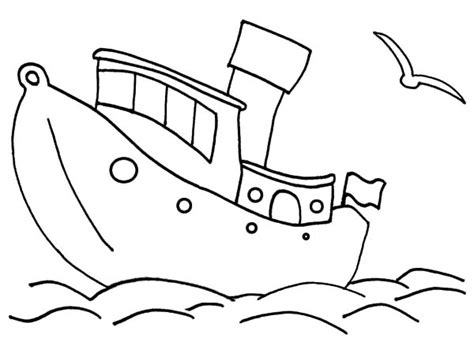 Boat Hull Outline by Vector Of A Fishing In A Sinking Boat