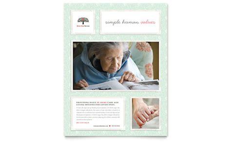 senior care services business card letterhead template