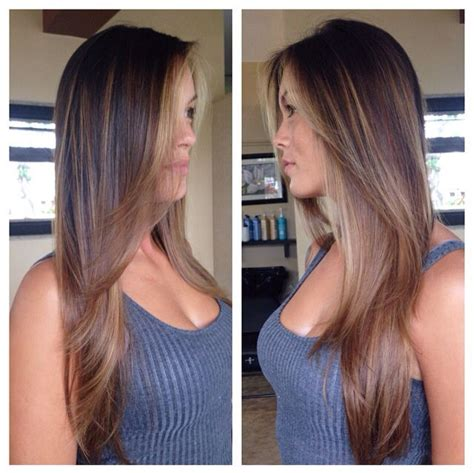 Sun In Brown Hair by Soft Balayage On Brown Hair Creating Caramel And